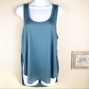 Madewell Strum Crossover Hi Lo Tank Top NWOT